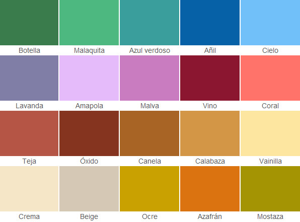 Colores De Pinturas Para Pared - Carta-colores-pintura-pared