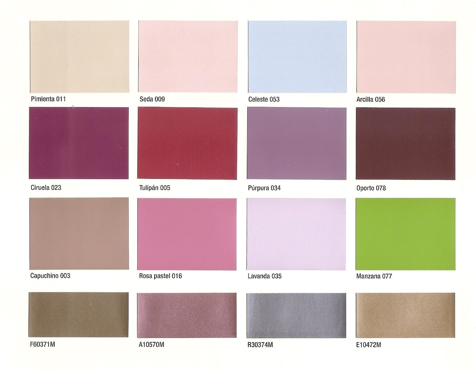 carta de colores para fachadas coloniales paletas